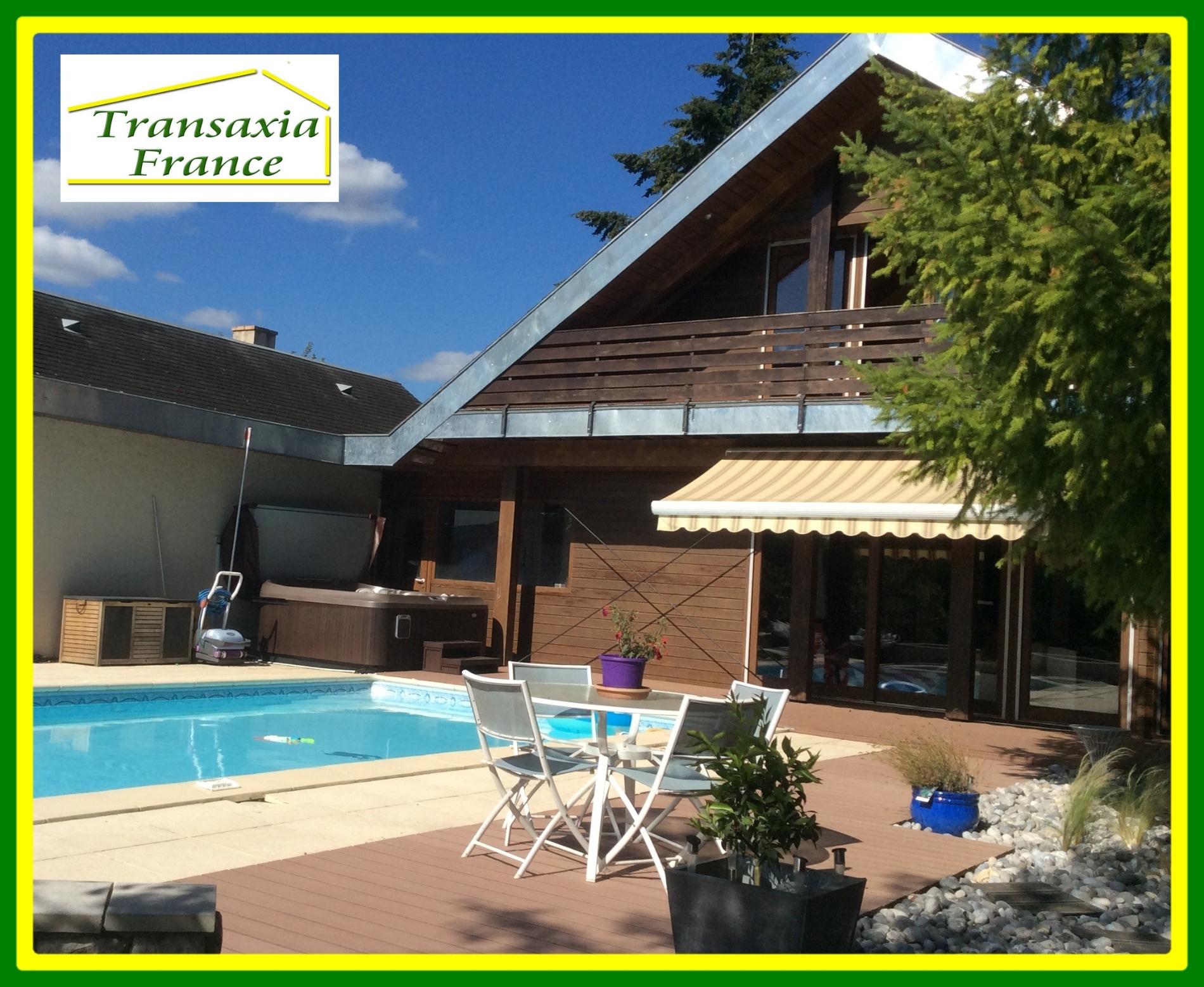 Vente superbe maison d 39 architecte en bois de 229 m2 avec for Prix m2 maison architecte